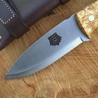 TBS Grizzly Bushcraft Survival Knife - Firesteel Edition - Curly Birch